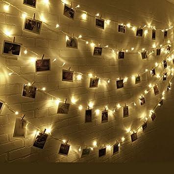 Romantisches bett mit lichterkette  Kitlit 11M 100 LED Lichterkette Wasserdicht Batteriebetrieben Foto ...