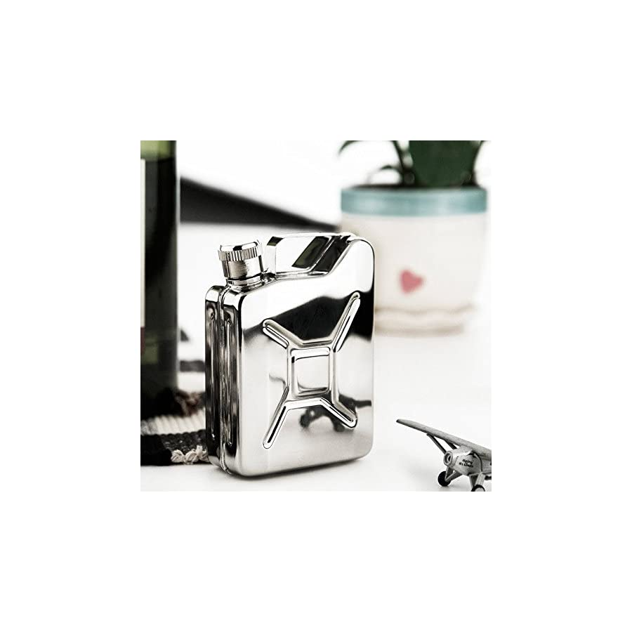 Savage 6oz 18/8 Stainless Steel Jerry Can Hip Flask Rmf 04