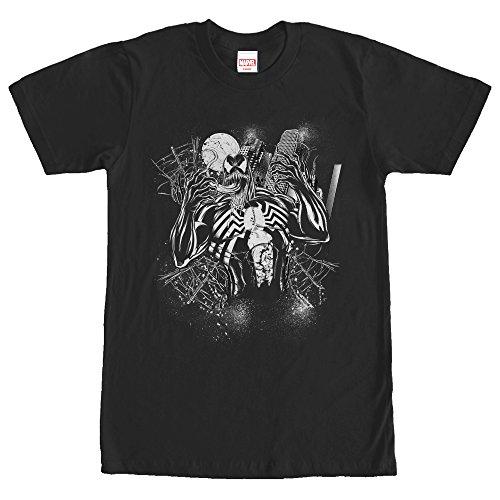 Moon Venom - Marvel Men's Full Moon Venom Black T-Shirt