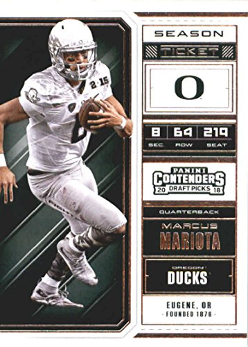 2018 Panini Contenders Draft Picks Season Ticket #68 Marcus Mariota Oregon Ducks Football ()