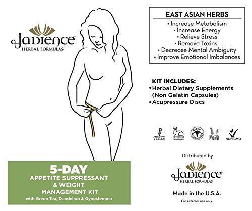 Appetite Suppressant, Gas & Bloating Neutralizer & Weight Management – 5 Day Mini Kit | Increase Metabolism | Fat Burning, Detox & Stress Reduction Supplements | Natural Control Remedy by Jadience