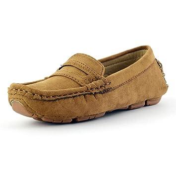 Xiazhi-shoes, Mocasines de Gamuza de Cuero de Microfibra de Gamuza Casual para niños