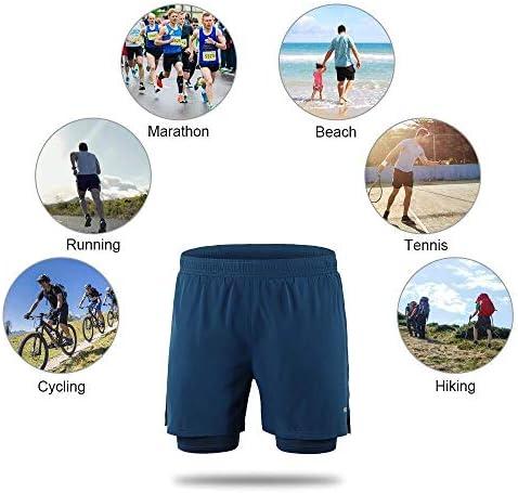 1ショーツメンズ速乾性通気性のアクティブトレーニングスポーツジョギング・マラソンサイクリングフィットネスで2 (Color : Black-2, Size : S(EU))