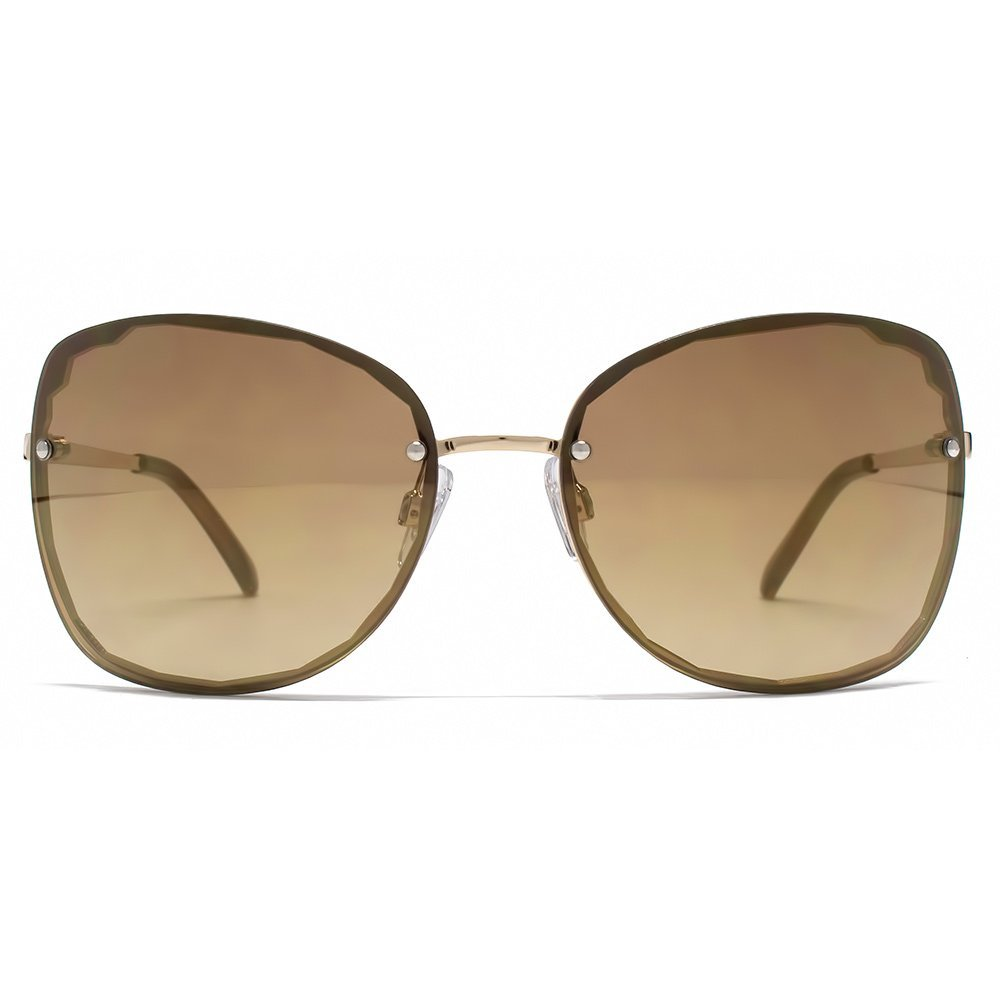 e08e602d38 French Connection Cut Out Rimless Sunglasses in Shiny Gold FCU639 ...