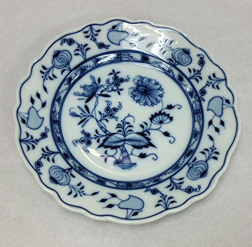 Blue Onion Bread Plate (Meissen Carl Teichert Blue Onion Bread/Dessert Plate, 7.5 Inch Diameter)