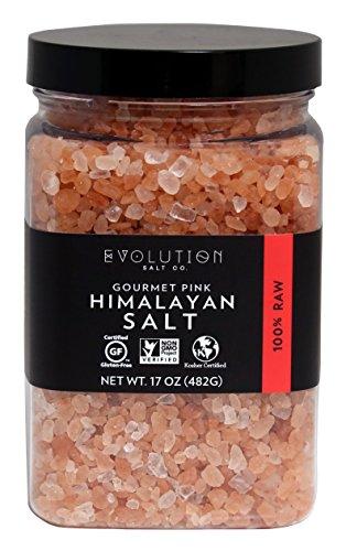 Evoltion Salt Co Gourmet Pink Himalayan Salt, Coarse Grind, 17 Ounce (Pack of 6) by Evoltion Salt Co