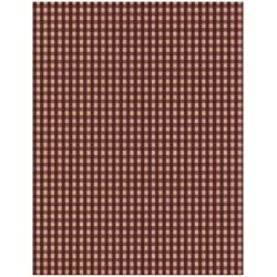 York Wallcoverings Best Of Country PV5215 Gingham Wallpaper, Burgundy/Tan
