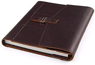 product image for Chronicle Artist Book by Rustico, Top-Grain Leather, Includes 24-Pack of Prismacolor, 8.5 by 11 Inch Canson Sketch Book, Dark Brown, Made in The USA