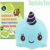 CETIM Jumbo Squishies Kawaii Scented Slow Rising Squishies Stress Relief Toy for Collection (UNICORN WHALE)