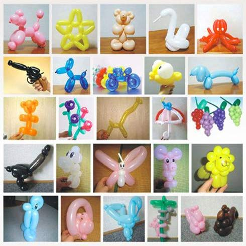 200 Pieces Long Party Balloons with Hand Held Air Inflator Pump for Decorations by VANVENE (Image #3)
