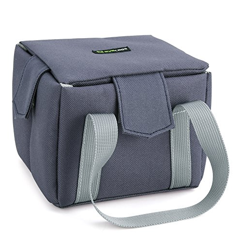 Camera Inner Bag, Evecase Shockproof Partition Padded DSLR Camera Insert Bag Camera Inner Case For Nikon Canon Sony Pentax Fuji Olympus Samsung - Blue-Grey / X-Small