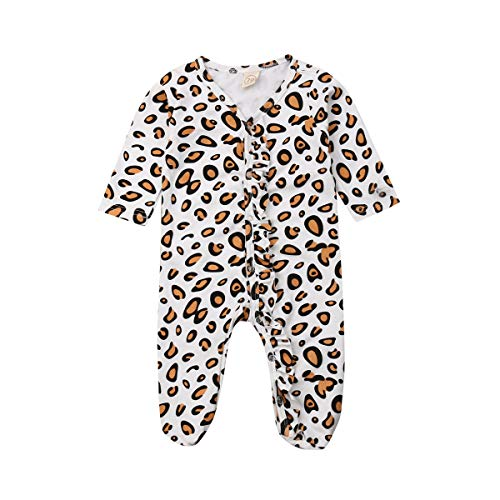 Newborn Leopard Jumpsuit Playsuit Pajamas product image