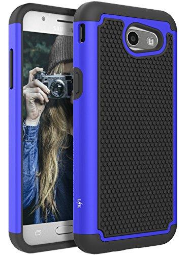 For Samsung Galaxy J3 Emerge/J3 2017/J3 Prime/J3 Mission/J3 Eclipse/J3 Luna Pro/Sol 2/Amp Prime 2/Express Prime 2 Case, LK Hybrid Armor Defender Protective Case Cover (Blue)