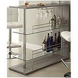 Coaster 100156 Home Furnishings Bar Unit, Weathered Grey