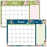"2018/2019 Floral Fantasy Calendar Pad - 11"" x 16-1/4"", Runs from January 2018 to December 2019"