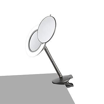 Amazon.com: Espejo redondo de maquillaje con clips y luces ...