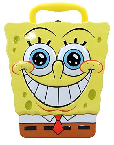 Spongebob Squarepants Head Shape Carry All Tin Lunch Box, 7 Inch