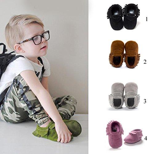 1x Zapatos Suaves Marginales única Mocasín Para Bebé Niños Niñas De Cuna - Púrpura, 11cm Púrpura