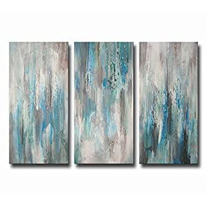 ARTLAND Hand-painted 'Sea Clarity' Oil Painting Gallery-wrapped Canvas Art Set 3-piece