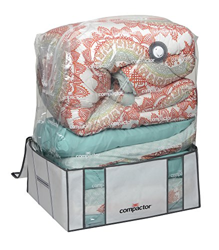 Compactor Space Saver Vacuum Storage Solution Vacuum Bag to Protect Clothes, Pillows, Duvets, Comforters, Blankets (XXL (26''x20''x11''), Classic White) by Compactor (Image #3)