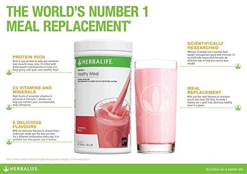 HerbalLife-Formula-1-Nutritional-Shake-Mix-Strawberry-Flavor-Healthy-Meal-500gm by ANMOL COLLECTIONS