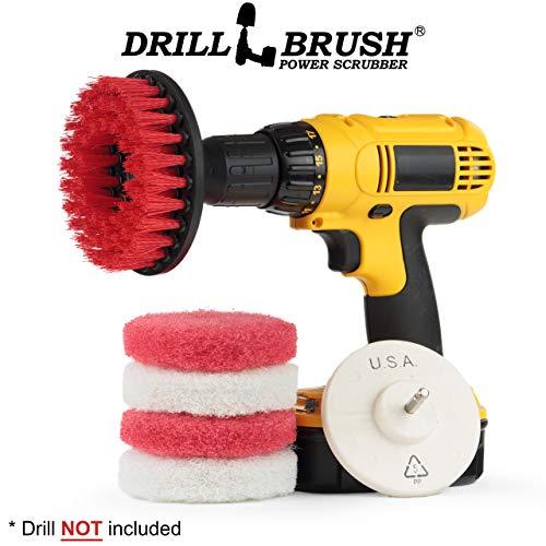 Hard Water Stain Remover - Hard Water Stain Remover, Mineral Deposit, Soap Scum Bathroom Power Brush and Scour Pad Kit