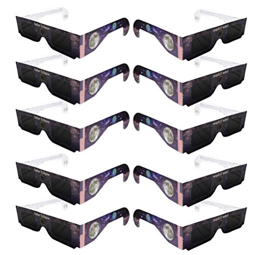 Price comparison product image Iuhan® Solar Eclipse Glasses 2017 Galaxy Edition CE and ISO Standard Viewing (10)