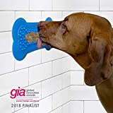 Perfect Curve The Original Lick Lick Pad, Dog Distraction Device Large, Blue, 1 Pack