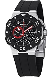 MomoDesign Tempest MD1004-01BKRD-R 46mm Ion Plated Stainless Steel Case Black Silicone Mineral Men's Watch