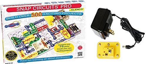 Snap Circuits PRO SC-500 Electronics Discovery Kit With Battery Eliminator 500 Electronic