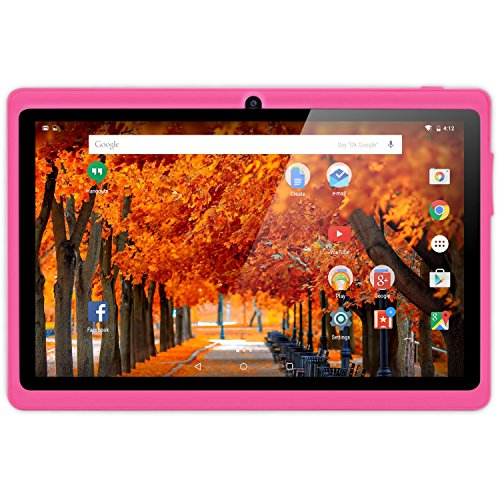 NeuTab 7'' Quad Core WIFI Tablet PC, HD 1024X600 Display, Bluetooth, Dual Camera, Google Play Pre-loaded, FCC Certified (Pink)