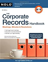 The Corporate Records Handbook, 5th Edition Front Cover