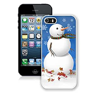 Iphone 5s Case,Snowflake Snowman White Case For Iphone 5 5S Protective Case