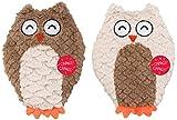 Ethical Pets Soft Swirl Plush Owl Plush Dog Toy,...