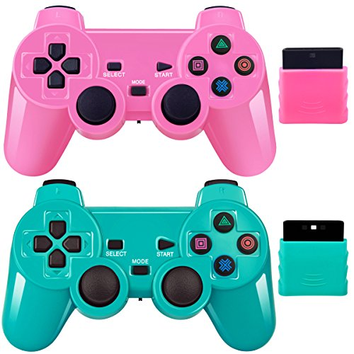 Wireless Controller 2.4G Compatible with Sony Playstation 2 PS2 (Playstation 2 Wireless Controller)