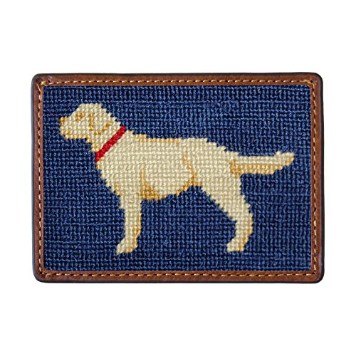 Men's Branson Smathers Yellow Lab Navy Classic Card amp; Needlepoint Wallet Fp44AqwUH