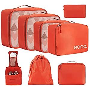 Eono by Amazon – 8 Pcs Packing Cubes for Suitcase Lightweight Luggage Packing Organizers Packing Cubes for Travel…