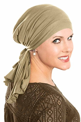 Cardani So Simple Scarf - Pre Tied Head Scarf for Women in Soft Bamboo - Cancer & Chemo Patients Luxury Bamboo - French Beige