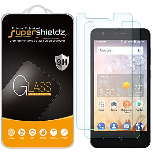 [2-Pack] Supershieldz for ZTE Avid 559 Tempered Glass Screen Protector, Anti-Scratch, Bubble Free