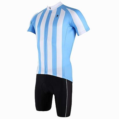 Traje de Montar en Bicicleta Traje Azul a Rayas de Verano ...