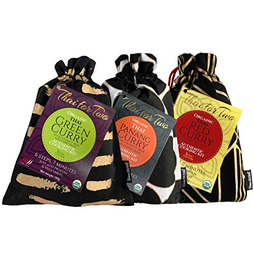 Verve Culture Thai for Two - Organic Thai Curry Cooking Sampler Kit | USDA Organic, Vegan, Gluten-Free | Made in Thailand