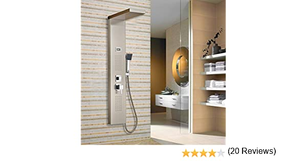 Columna de hidromasaje para ducha, Claramente muestra la temperatura del agua. de baño cabezal de ducha.: Amazon.es: Bricolaje y herramientas