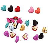 Merryshop Creative/Colorful/Fashion Steel Push Pins for Cork Notice Board 30 Piece (Heart-Shaped)