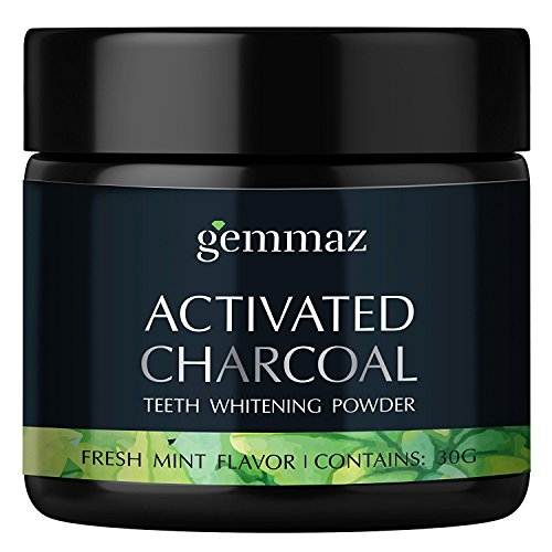 Natural-Teeth-Whitening-Powder-Organic-Bamboo-Activated-Charcoal-Safe-Tooth-Whitener-for-Sensitive-Teeth-Gums-Food-Grade-Fresh-Mint-Flavor-by-Gemmaz-30g
