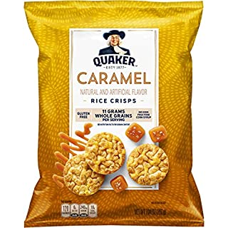 Quaker Rice Crisps, Caramel Corn, 7.04 oz Bag (Packaging May Vary)