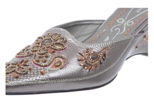 JohnFashion - Sandalias de vestir de Piel para mujer bronce claro