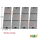 bbq factory® Replacement Porcelain coated Cast Iron Cooking Grid Set (4-pack) Select Gas Grill Models By Chargriller,King Griller and Others