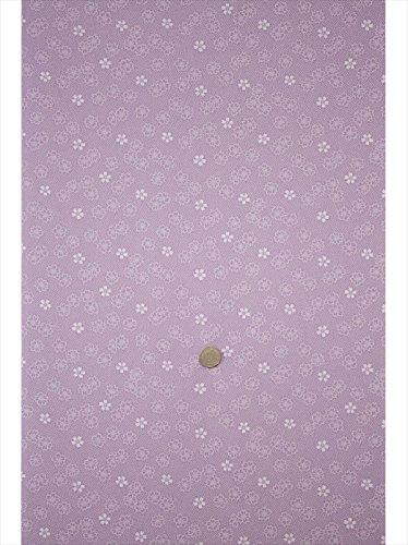 遷移スカーフユーモラス洗える着物反物 a-8 浅紫地?小桜鮫柄