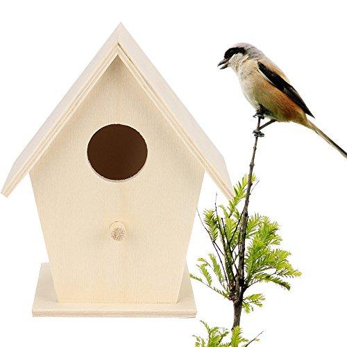 (NszzJixo9 Bird House Bird Box Wooden Box,12x9.5cm)