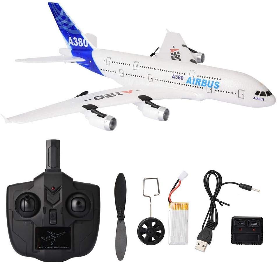 RC Helicopter Toy,Juguete Modelo de avión de Control Remoto,A120-Airbus A380 Modelo de Planeador de helicóptero de Control Remoto de 3 Canales Juguete de avión